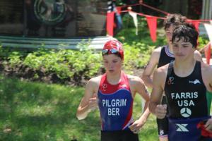 Alex Pilgrim out of swim at Richmond VA Youth Elite Triathlon 4th May 2014