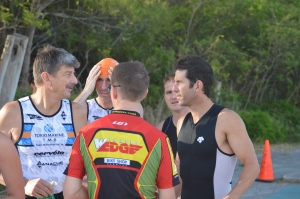 Neil Lupsic,on right, could contend for overall honours tomorrow