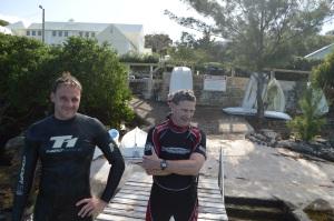 Harrington Sound School Dock is the venue - but no wetsuits !!