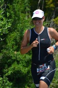 Nancy Swartz - first time Ironman 70.3 finisher