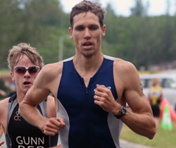 Riaan Naude whilst racing in Bermuda