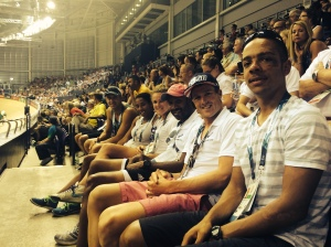 Bda Commonwealth Games triathletes enjoy cycling at Velodrome with other Bda athletes