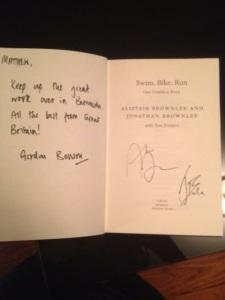 Matthew Oliveira's autographed book.
