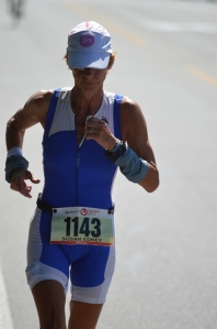Sue Edney on the run at Penticton Challenge