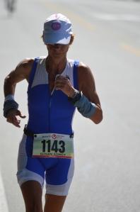Sue Edney on the run at Penticton Challenge