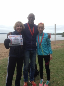 Julia and Kent at Sleeping Giant Park with Australian Charlotte McShane who was 1st female overall at Xterra Sleeping Giant and 38th in the Women's Elite field at ITU World Champs, Edmonton.