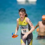 Laura Hope at last year's Clarien Bank Iron Kids Triathlon