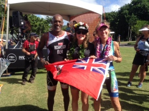 KENT, FLORA AND JULIA IN HAPPY MOOD AFTER XTERRA WORLD CHAMPS 2014