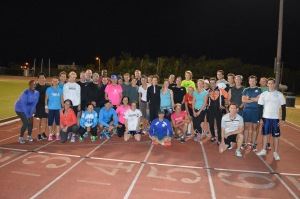 everyone took to the track on Tuesday evening