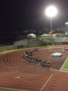 38 static trainers line the track for the brick session