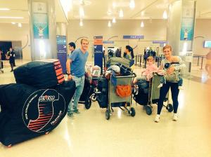 HOW A PRO TRIATHLETE TRAVELS WITH HIS FAMILY - DEPARTING AUSTRALIA FEB 2015