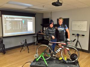 TYLER BUTTERFIELD GETS A FINAL BIKE FIT BEFORE IRONMAN 70.3 BRASIL