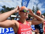 FLORA DUFFY AT THE SWIM START -WTS GOLD COAST 2015