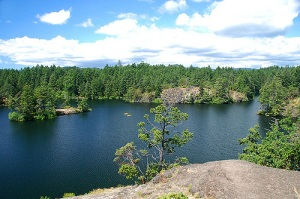Experience Thetis Lake, a favorite swim training venue for Victoria's triathletes