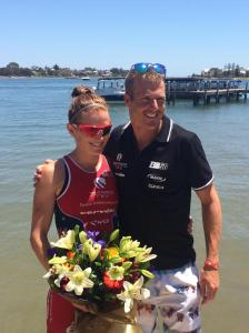 NIKKI AND TYLER AT LAST YEAR'S ASIA PACIFIC 70.3 CHAMPIONSHIPS