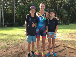 FLORA DUFFY WITH FAN CLUB 25 MINUTES BEFORE THE START