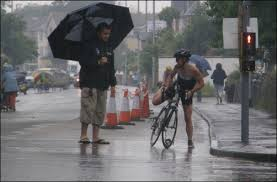 triathlon bad weather