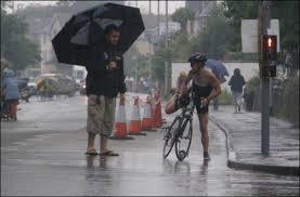 triathlon bad weather
